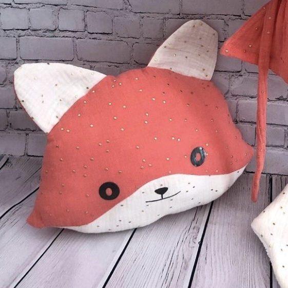 fox cushion decoration nursery