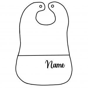 customizable baby bib custom