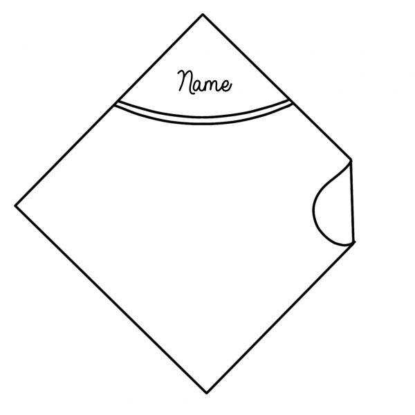 hooded towel custom embroidery name