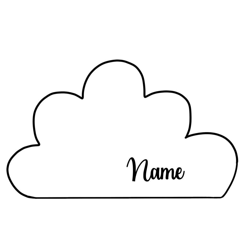 cloud cushion pillow baby nursery custom personalized
