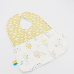 cloud and mouse fabric cute bib