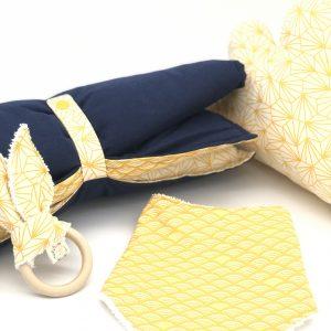 baby set gift yellow fabric unisex