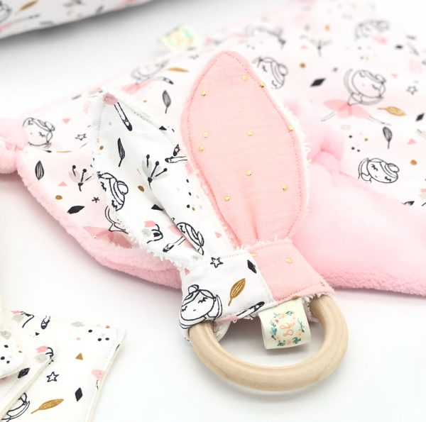 ballerina golden dots teether baby teething