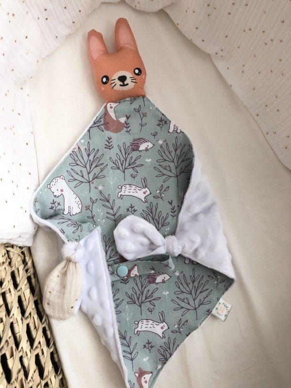baby comforter toy rabbit bunny cuddles