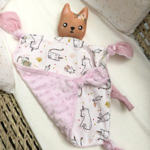 comforter baby toy cuddles cat flowers