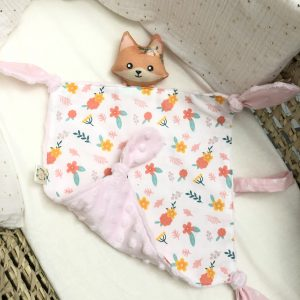 baby comforter toy fox flowers cuddles