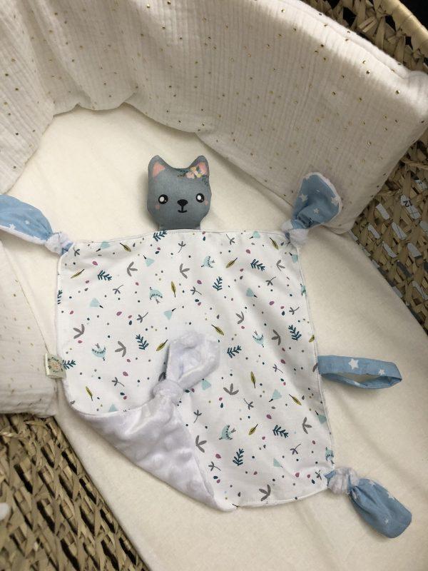 baby comforter toy grey cat cuddles