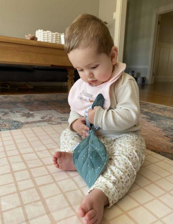 baby teething teether ring wooden gauze oeko tex